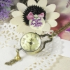 นาฬิกาพก,นาฬิกาสร้อยคอหน้าปัดกระจกทรงกลมตัวเลขโรมัน