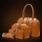 กระเป๋าถือ กระเป๋าสะพาย กระเป๋าสตางค์ กระเป๋าใส่กุญแจ รถ บ้าน 4 ใบ ใน 1 Set คุ้ม ยิ่งกว่าคุ้ม กระเป๋าผู้หญิง สีพื้น ดีไซน์สวย เข้ากันเป็นชุด ราคาถูกมาก 14464