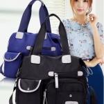 กระเป๋าสะพาย แฟชั่น กระเป๋าสะพายข้าง กระเป๋าผ้าไนลอน กันน้ำ ใบใหญ่ แบบสวย สีเงา ใส่ของได้เยอะ ช่องแยกเยอะ 143899