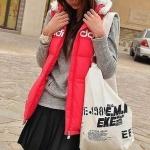 กระเป๋าเป้ กระเป๋าสะพายข้าง สไตล์สาวเกาหลี ไปเรียน น่ารัก สีขาว