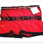 กางเกงในชาย บ๊อกเซอร์ GG สีแดงคาดดำ A009