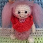 ตุ๊กตาเด็กผู้หญิงมัดจุก