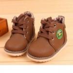 รองเท้าผ้าใบ รองเท้าหุ้มส้น รองเท้าบูท เด็ก Martin Boot สีน้ำตาลเข้ม รองเท้าเดินทาง สำหรับเด็ก น่ารัก ๆ เข้ากับชุด คาวบอย เท่ ๆ 239220
