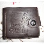 กระเป๋าสตางค์ Levis หนังแท้สีน้ำตาลเข้ม no2
