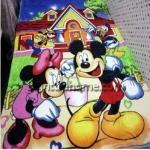ผ้าห่มกำมะหยี่ เนื้อนุ่ม 5 ฟุต Micky Minne Mouse M001