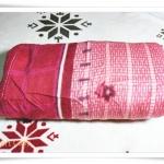 ผ้าห่มเนื้อนุ่มเนื้อสำลี สีแดง ลายดอกไม้ ราคาถูก