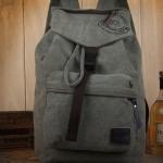กระเป๋าเป้ กระเป๋าสะพายหลัง ผ้าแคนวาส อย่างดี ออกแบบเป็นทรงถุง มีที่ปิด ดีไซน์สวย ใช้ได้ทั้ง ผู้หญิง และ ผู้ชาย สีเขียว Army Green 389296_3
