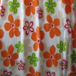 ผ้าห่มเนื้อสำลีขนนุ่ม ลายดอกสีส้มพื้นครีมขาว (ฟรีค่าส่ง)