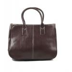 กระเป๋าถือ ผู้หญิง กระเป๋าถือ หนัง Pu ขนาดกระทัดรัด สีพื้น สีน้ำตาลเข้ม กาแฟ ทนทานสุด ๆ No 39848_4