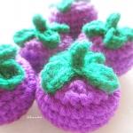 มังคุดถักโครเชต์ mangosteen fruit crochet