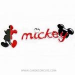 (ลด 5 % ) MICKEY-MINNIE-โลโก้สติ๊กเกอร์โลหะติดรถยนต์