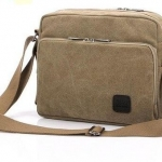 กระเป๋าใส่ Ipad กระเป๋าสะพายข้าง ผ้า canvas แบบเท่ ๆ สีน้ำตาล กระเป๋าสะพายข้างผู้ชาย ราคาถูก no 5065281