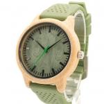 นาฬิกาข้อมือ ผู้หญิง นาฬิกา งานไม้ นาฬิกาไม้ไผ่ สีเขียว สายซิลิโคนแท้ นาฬิกา แฟชั่น แบบเก๋ ๆ สไตล์ วินเทจ นาฬิกาแบบสวย ดีไซน์เก๋ 21781