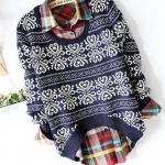เสื้อกันหนาวผู้หญิง ถัก Knitting เป็นเสื้อแบบสวม สามารถใส่ทับเสื้อคอปก แบบเท่ ๆ ได้เลยค่ะ สีแดง สีขาว สีดำ และ สีน้ำเงิน no 5653918