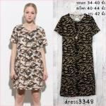 Dress3348-โทน1 Maxi Dress ชุดเดรสยาวทรงสวยลายพราง ผ้าเนื้อดีนุ่มยืดขยายได้เยอะ