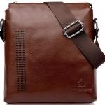 กระเป๋าสะพายข้าง ผู้ชาย หนังแท้ หนังมัน กระเป๋าใส่ Ipad กระเป๋าหนังแท้จากฝรั่งเศส ลดราคา มี สีดำ สีน้ำตาล no 33186