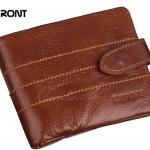กระเป๋าสตางค์ผู้ชาย กระเป๋าสตางค์ ใบสั้น หนังแท้ สีน้ำตาล ยอดนิยม แต่งตะเข็บ 3 เส้น กระเป๋าใส่เหรียญ ถอดได้ กระเป๋าสตางค์ แบบมีดีไซน์ 71445