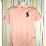 เสื้อโปโลผู้ชาย Ralph สีพื้น สีส้ม pl42002