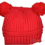 หมวกไหมพรม สำหรับเด็ก มีหู 2 ข้าง น่ารักมาก ๆ ค่ะ สี แดง no 70342_3