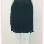 **สินค้าหมด skirt279 กระโปรงแฟชั่นทรงเข้ารูป ผ้ายืดวิ้ง เอวยืด สีดำ