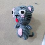แมวถักโครเชต์ ขนาด 4 นิ้ว cat amigurumi crochet 4 inches