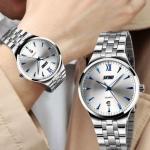 นาฬิกาข้อมือ ผู้ชาย สาย stainless แท้ สีเงิน นาฬิกาสีเงิน แบบผู้ใหญ่ ใส่ทำงาน สาย 4 แถว หน้าปัดเรืองแสง มีระบบวันที่ หน้าปัดใหญ่ เรียบหรู 894010
