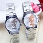 นาฬิกาข้อมือ ผู้หญิง นาฬิกาข้อมือสายสแตนเลส หน้าปัดลาย มิกกี้เม้าส์ สุดน่ารัก นาฬิกาวัยรุ่น ของขวัญให้แฟน 532087