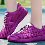 รองเท้าผ้าใบ ผู้หญิง สีม่วง สีเจ็บ ๆ แบบเชือกผูก รองเท้า วัยรุ่น รองเท้าหุ้มส้น รุ่นระบายอากาศ ใส่เที่ยว ใส่เดินทาง 465384_3
