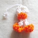 พวงมาลัยดอกดาวเรืองแขวนหน้ารถ / แขวนกระจกรถ ถักโครเชต์ thai garland crochet hanging