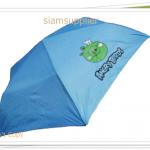 ร่มพับได้ ร่มกันแดด กันฝน Angry Bird สีฟ้า