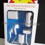 ชุดชาร์จไอโฟน+ชุดหูฟัง แบบครบ ทุกแบบ 5 ชิ้น