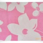 ผ้าห่มเนื้อนุ่มสีชมพู ดอกไม้ หวาน ๆ
