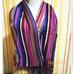 ผ้าพันคอไหมพรมถักลายไทย s005