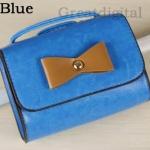 กระเป๋าสะพายข้างผู้หญิง ขนาดเล็ก เหมาะสำหรับ ใส่โทรศัพท์ หรือ กระเป๋าสตางค์ ไม่เทอะทะ ดูแลง่าย สำหรับวันไปเที่ยว แต่งโบว์ สีฟ้า no 80266_5