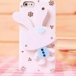 เคส iPhone 4g 4s 5g เคส 3 มิติ Diy ติด ตัวกระต่ายน้อย ในการ์ตูน มี 3 สี ดำ ฟ้า ชมพู เคส แบบน่ารัก สไตล์ คุณหนู 466740