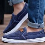 รองเท้าผ้าใบ ผู้ชาย รองเท้าหุ้มส้น แบบไม่มีเชือก รองเท้าสวมแบบเท่ ๆ ดีไซน์ รองเท้ายีนส์ หุ้มส้น ใส่เที่ยว ทำงาน เรียน 384695