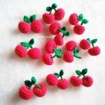 เชอรี่ถักโครเชต์ ขนาด 2 นิ้ว cherry crochet