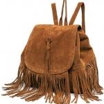 กระเป๋าเป้ กระเป๋าสะพายหลัง สไตล์ วินเทจ ดีไซน์ ห้อยพู่ แต่งกระเป๋า สไตล์ สาวเท่ แนวเซอร์ กระเป๋าสะพาย สาวเก๋ ๆ สีดำ น้ำตาล แดง 719341