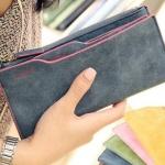 กระเป๋าสตางค์ใบยาว หนังแท้ ผู้หญิง ใส่บัตรได้ จุใจ ด้านในมี ที่ใส่บัตรแยกเพิ่มออกมาได้อีก กระเป๋าใส่บัตรได้เยอะ จริง ๆ ค่ะ no 195741