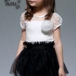 เดรส เด็กผู้หญิง ชุดกระโปรงเด็กผู้หญิง เสื้อ สีขาว ซีทรู เล็กน้อย ติดดอกไม้ กระโปรงบาน สีดำ ใส่ไปงานศพ ใส่ออกงาน ทางการ ชุดเด็ก มีดีไซน์ 526690_1