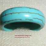 (ขายแล้วค่ะ) V007 แหวนเทอร์คอยส์ หน้ากว้าง 7มม ขนาดความกว้างวง 1.90 ซม