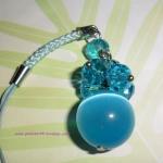 P03 สายห้อยโทรศัพท์ (หินเพชรตาแมว) สีฟ้า
