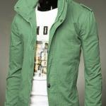 เสื้อกันหนาวผู้ชาย เสื้อคลุมผู้ชายแขนยาว สไตล์ แจ็คเก็ตยีนส์ สไตล์ คาวบอย Jacket สีเขียวสว่าง Olive แบบเท่ no 387798_6