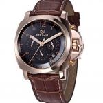 นาฬิกาข้อมือ ผู้ชาย สายหนังแท้ สีดำ สีน้ำตาล หน้าปัดใหญ่ ดีไซน์เก๋ ระบบ Quartz จาก ญี่ปุ่น Japan Miyota ดีไซน์หรู ของขวัญให้ผู้ใหญ่ ให้แฟน มีระดับ 504854
