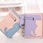กระเป๋าสตางค์ผู้หญิง ใบสั้น โลโก้แมวน้อย พร้อม ป้ายห้อยรูปแมว คนรักแมว พลาดไม่ได้นะคะ กระเป๋าสตางค์ใบสั้น น่ารัก ๆ สไตล์ ญี่ปุ่น 474810_1
