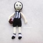 ตุ๊กตานักกีฬารักบี้ถัก ขนาด 5 นิ้ว footy/rugby amigurumi crochet 5 inches
