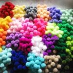 ปอมปอมไหมพรม ขนาด 2.5-3 ซม pom poms crochet (เฉพาะราคาส่ง คละสี สั่งขั้นต่ำ 50 ชิ้น)