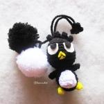 ที่ห้อยกระเป๋า พวงกุญแจตุ๊กตาแบดแบดมารุปอมปอม dolls pom pom amigurumi crochet keychain