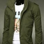 เสื้อกันหนาวผู้ชาย เสื้อคลุมผู้ชายแขนยาว สไตล์ แจ็คเก็ตยีนส์ สไตล์ คาวบอย Jacket สีเขียวเข้ม เขียวทหาร แบบเท่ no 387798_5