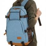 กระเป๋าเป้ กระเป๋าสะพายหลัง ใบใหญ่ ผ้าแคนวาส ฐานรอง ระบุด้วยหนัง กันน้ำ กระเป๋าเป้ ใส่โน้ตบุ๊ค ใส่หนังสือเรียน ใส่เสื้อผ้าเที่ยว 347338